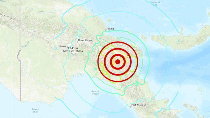 Shoa descarta tsunami tras terremoto 7,5 en Papúa Nueva Guinea