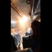Llamas desatan el pánico al interior de un tren en pleno viaje Santiago-Chillán