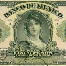La escandalosa historia alrededor del primer billete con una mujer emitido por el Banco de México