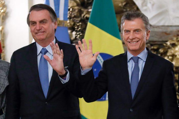 Bolsonaro dice junto a Macri que Suramérica no quiere