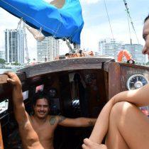 La pareja que cruzó el Atlántico a vela con pasajeros que hacían