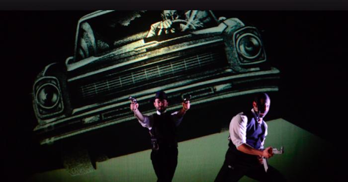 """Obra """"Plata Quemada"""" de Teatrocinema en Aldea del Encuentro de La Reina"""