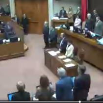 El emotivo minuto de silencio por Javiera Suárez en el Senado