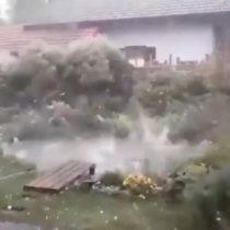 Como una película de ficción: se registra impactante tormenta de granizos en Alemania
