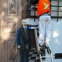 Indignación total: borran reconocido mural del Barrio Lastarria