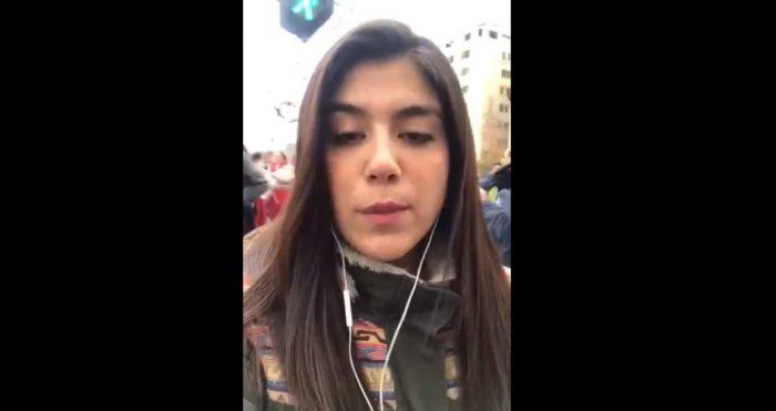 Macarena Segovia despacha desde la marcha de los profesores, una movilización marcada por el nulo diálogo con el Mineduc