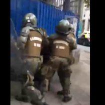 Registran violenta detención de Carabineros a estudiantes del Liceo 1 que se manifestaban contra Aula Segura