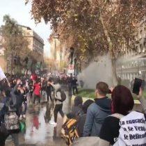 Con incidentes en pleno centro de Santiago terminó la gran marcha de profesores