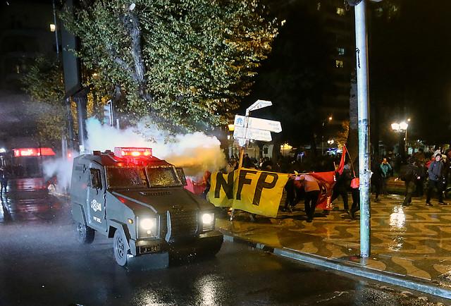 Se registran disturbios tras marcha no autorizada en la previa a la Cuenta Pública