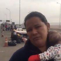 Venezolana varada en Chacalluta entrega su testimonio acompañada de lactante de dos meses