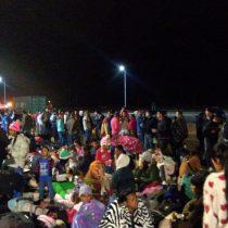 """""""Queremos refugio"""": Venezolanos protestan en frontera Chile-Perú por nueva visa consular"""