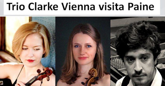 Concierto gratuito Internacional con el Trío Clarke Vienna en Teatro de Paine