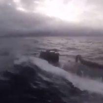 Impactante registro de captura de submarino narco por Guardia Costera estadounidense