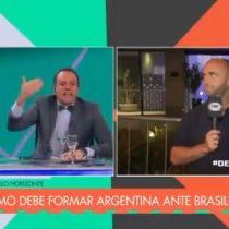 La bipolaridad de un periodista argentino: de no querer enfrentar a Chile en una posible final de Copa América, exigió ganarle a Brasil y Chile y llevar el trofeo