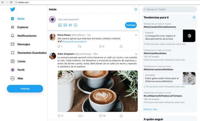 La nueva versión web de Twitter con más opciones de navegación y personalización