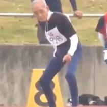 Ejemplo a seguir: anciano de 102 años compitió en carrera de 100 metros planos