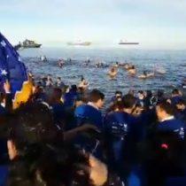 """Tres mil personas participaron de una nueva versión del """"Chapuzón del Estrecho"""""""