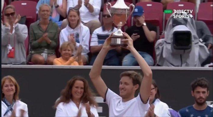 En una hora y media Nicolás Jarry conquista en Bastad su primer título ATP