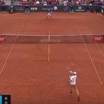 El punto que le dio la victoria a Jarry sobre Delbonis para meterse en la final por su primer título ATP