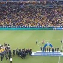 Las pifias a Bolsonaro en la ceremonia de premiación a Brasil