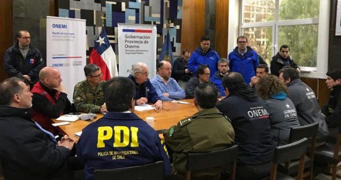 Moreno encabeza comité de crisis en Osorno y la empresa confirma que suministro retornará gradualmente este martes