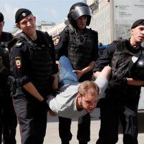 Más de 1.000 detenidos en una manifestación en Moscú tras una de las represiones más violentas de las autoridades en los últimos años