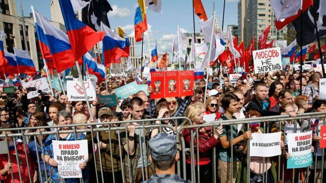 Protestas en Rusia: más de 1.000 detenidos en una manifestación en Moscú tras una de las represiones más violentas de las autoridades en los últimos años