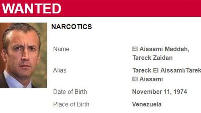 Tareck El Aissami: EE.UU. incluye al ministro de Venezuela en la lista de los 10 más buscados por narcotráfico internacional