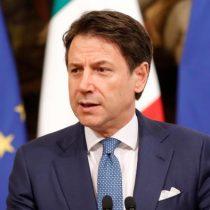 Primer ministro de Italia anuncia su dimisión