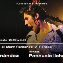 Noche de Flamenco: bailaora Caro Fernández junto a Pascuala Ilabaca en El Internado, Valparaíso
