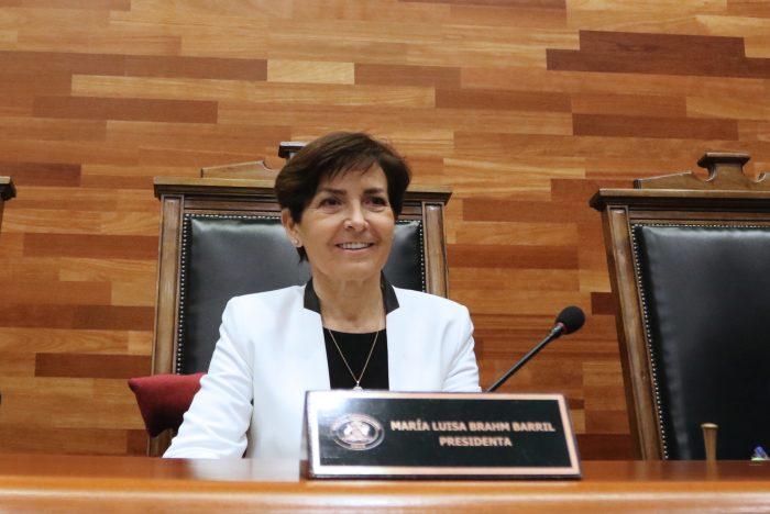 María Luisa Brahm jura como presidenta del Tribunal Constitucional hasta el 2021
