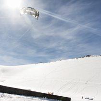 Snowkite Fest Corralco: ya se prepara el campeonato que combina el deporte de vela y nieve