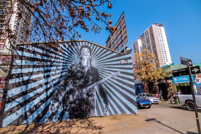 Inauguran mural en homenaje a Cerati en Parque Almagro
