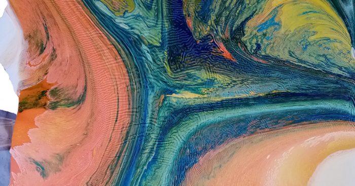 """Exposición """"Topografía del alma"""" de Paula Swinburn: develando la materia del trabajo pictórico"""