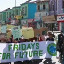 Fridays For Future: protesta ambientalista se toma las calles de Kabul, Afganistán