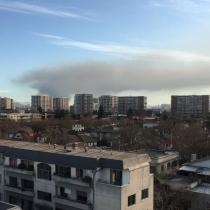 Gigantesco incendio afecta a fábrica de la zona sur de Santiago