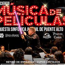 """Concierto gratuito """"Música de películas"""" en Centro Cultural de Puente Alto"""