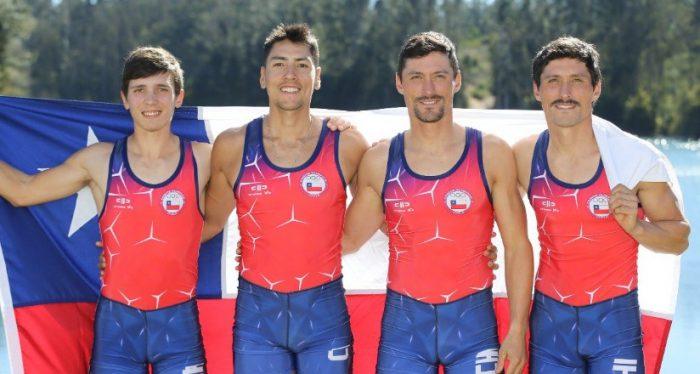 Cuarteto del remo masculino le da la décima medalla de oro a Chile en los Panamericanos de Lima 2019