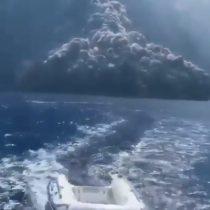 Una película de terror: familia graba erupción de volcán en Italia