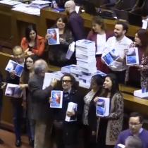 Un Gobierno poco COP: diputados protestan por el uso indiscriminado de papel por parte del Ejecutivo