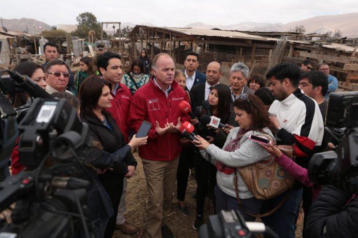 Ministro Walker llega a la región de Atacama para declarar zona de emergencia agrícola