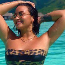 Demi Lovato deja ver su cuerpo natural: «Estoy cansada de sentirme avergonzada de mi cuerpo»