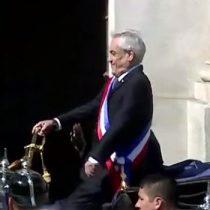 El chascarro de Piñera a bordo del carruaje presidencial camino al Te Deum Ecuménico