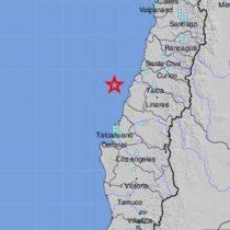 Sismo de magnitud 6,6 sacudió la zona centro y sur de Chile