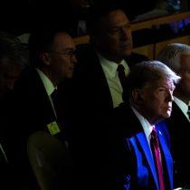 Trump se dio una vuelta por la cumbre de acción climática y se fue cuando comenzaba el panel encabezado por Piñera