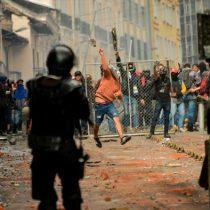 Jornada de protestas en Ecuador deja casi 200 detenidos