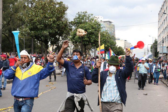 Sindicatos de Ecuador niegan diálogo con el Gobierno y dicen que la protesta seguirá