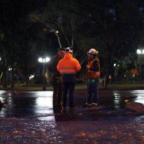 Inundación en Providencia: rotura de matriz genera estragos en zona céntrica de la capital