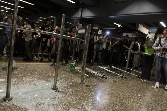 PDI detuvo a sospechoso de dañar la estación de Metro Las Parcelas el pasado 18 de octubre