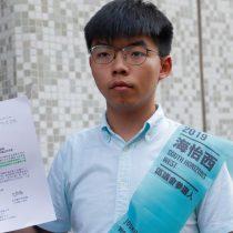 Hong Kong prohíbe al activista Joshua Wong presentarse a los comicios locales